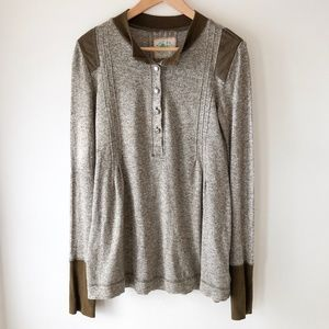 FREE PEOPLE Olive Henley Long Sleeve